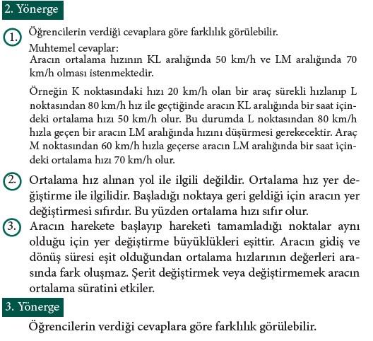9. Sınıf Fizik Beceri Temelli Etkinlik Kitabı Sayfa 100 Cevabı