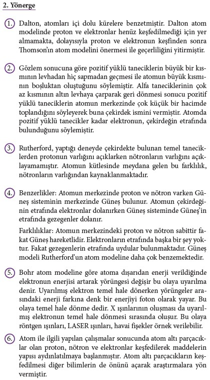 9. Sınıf Kimya Beceri Temelli Etkinlik Kitabı Sayfa 46 Cevabı
