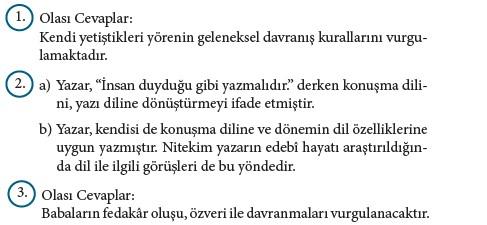 9. Sınıf Türk Dili Ve Edebiyatı Beceri Temelli Etkinlik Kitabı Cevapları Sayfa 426 Cevabı