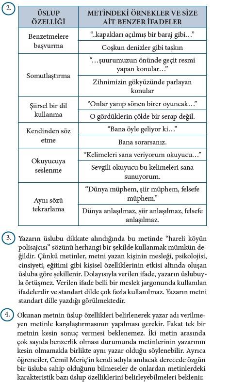 9. Sınıf Türk Dili Ve Edebiyatı Beceri Temelli Etkinlik Kitabı Cevapları Sayfa 468 Cevabı