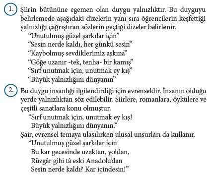 9. Sınıf Türk Dili Ve Edebiyatı Beceri Temelli Etkinlik Kitabı Cevapları Sayfa 91 Cevabı