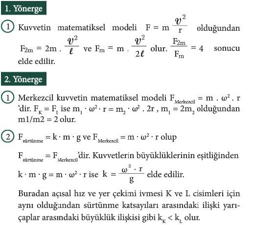 12. Sınıf Fizik Beceri Temelli Etkinlik Kitabı Sayfa 13 Cevabı