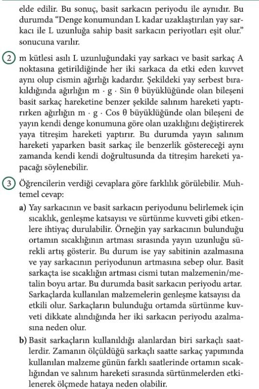 12. Sınıf Fizik Beceri Temelli Etkinlik Kitabı Sayfa 87 Cevabı