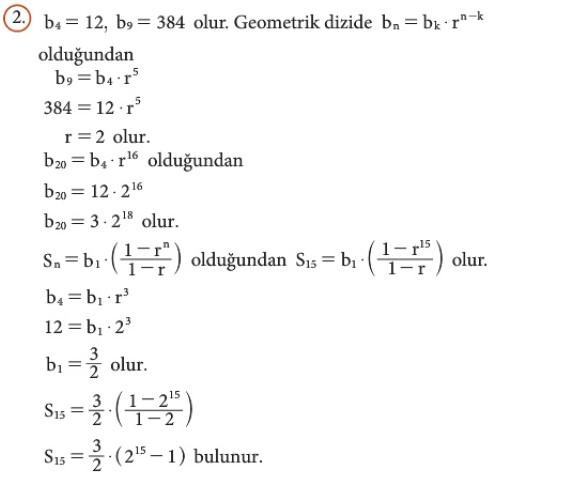 12. Sınıf Matematik Beceri Temelli Etkinlik Kitabı Sayfa 34 Cevabı