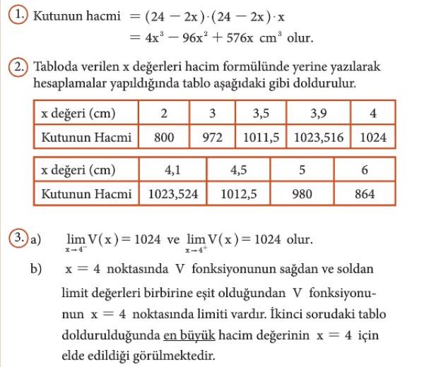 12. Sınıf Matematik Beceri Temelli Etkinlik Kitabı Sayfa 60 Cevabı