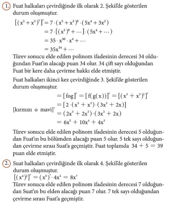 12. Sınıf Matematik Beceri Temelli Etkinlik Kitabı Sayfa 81 Cevabı
