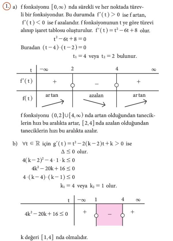 12. Sınıf Matematik Beceri Temelli Etkinlik Kitabı Sayfa 86 Cevabı