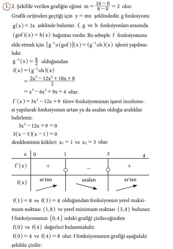 12. Sınıf Matematik Beceri Temelli Etkinlik Kitabı Sayfa 95 Cevabı