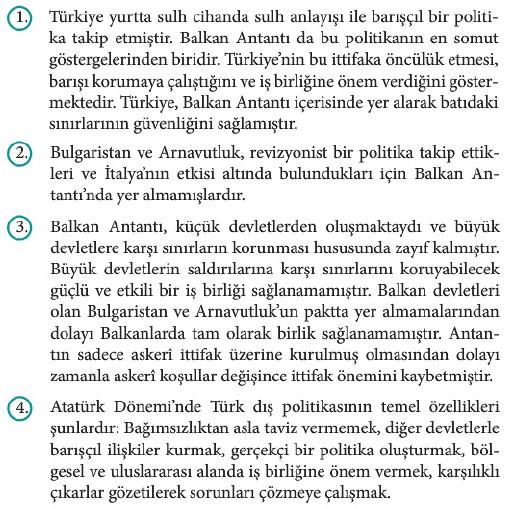 12. Sınıf İnkılap Tarihi Beceri Temelli Etkinlik Kitabı Sayfa 86 Cevabı