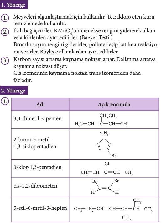 12. Sınıf Kimya Beceri Temelli Etkinlik Kitabı Sayfa 85 Cevabı
