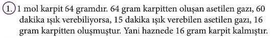 12. Sınıf Kimya Beceri Temelli Etkinlik Kitabı Sayfa 87 Cevabı